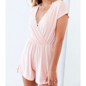 Urban outfitters light pink romper